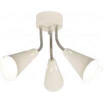 Kattovalaisin Scan Lamps Eva, 3-osainen, valkoinen/kromi