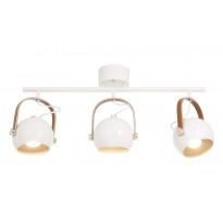Kattospotti Scan Lamps Bow, 3x7W, 345x750x145mm, IP20, GU10, valkoinen, Verkkokaupan poistotuote