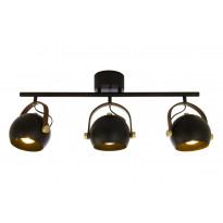 Kattospotti Scan Lamps Bow, 3x7W, 345x750x145mm, IP20, GU10, musta