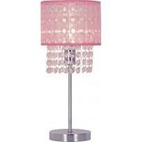Pöytävalaisin Scan Lamps Vendela, 160x160x355 mm, kromi, vaaleanpunainen
