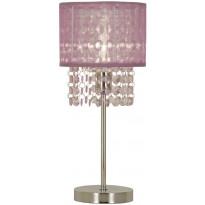 Pöytävalaisin Scan Lamps Vendela, 160x160x355 mm, kromi, violetti