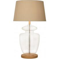 Pöytävalaisin Scan Lamps Megan, Ø 450x779 mm, kirkas lasi, kromi, luonnonvalkoinen