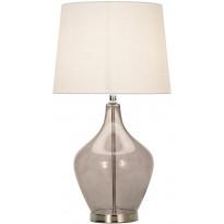 Pöytävalaisin Scan Lamps Melina, Ø 320x580 mm, savulasi, luonnonvalkoinen
