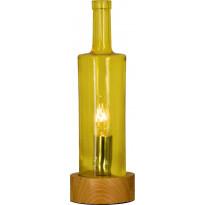 Pöytävalaisin Scan Lamps Flaske, puu/keltainen