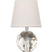Pöytävalaisin Scan Lamps Topas, ø 14x23cm, kirkas/valkoinen