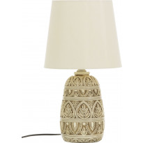 Pöytävalaisin Scan Lamps Romeo, matala, antiikkivalkoinen