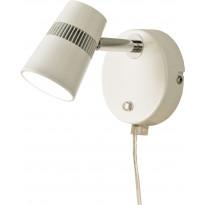 LED-seinäspotti Scan Lamps Aero, valkoinen/kromi, himmennettävä
