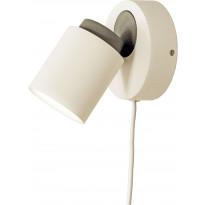 Seinäspotti Scan Lamps Rollo, GU10, valkoinen/musta