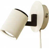 Seinäspotti Scan Lamps Pascal, GU10, valkoinen/musta