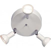 Kattospotti Scan Lamps Toby, 160x160x130 mm, 3-osainen pyöreä valkoinen