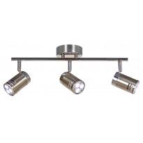 Kattospotti Pipe LED, 3-osainen, suora, teräs/kromi