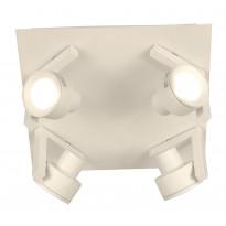 Kattospotti Vinkel, 4-osainen, valkoinen
