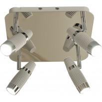 LED-kattospotti Scan Lamps Havanna, 4-osainen, valkoinen/kromi