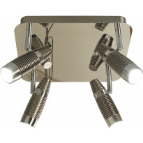 LED-kattospotti Scan Lamps Havanna, 4-osainen, teräs/kromi