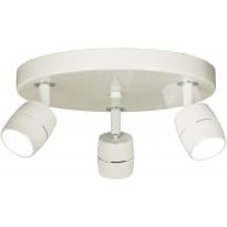 LED-kattospotti Scan Lamps Lumi, 3-osainen, pyöreä, valkoinen, himmennettävä