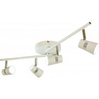 LED-kattospotti Scan Lamps Aero, 4-osainen, suora, valkoinen/kromi