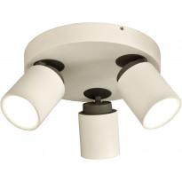 Kattospotti Scan Lamps Rollo, 3-osainen, GU10, pyöreä, valkoinen/musta