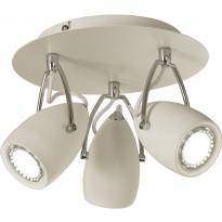 Kattospotti Scan Lamps Raz, 3-osainen, GU10, pyöreä, valkoinen/kromi