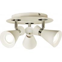 Kattospotti Scan Lamps Trakt, 3-osainen, GU10, pyöreä, valkoinen/kromi
