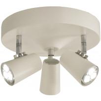 Kattospotti Scan Lamps Pilot, 3-osainen, GU10, valkoinen