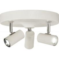 LED-kattospotti Scan Lamps Gusto, 3-osainen, pyöreä, valkoinen, himmennettävä