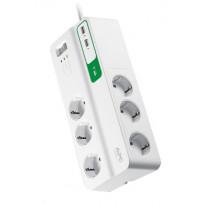 Ylijännitesuoja SurgeArrest Essential 6x Schuko 2x USB APC
