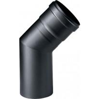 Hormiliitosputki Apros, 45 astetta, Ø80mm, musta
