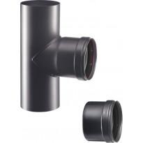 Hormiliitosputki Apros, T-haara, Ø80mm, musta