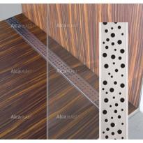 Lineaarinen lattiakaivo Buble kahdella kaadolla, 800 mm, Alcaplast