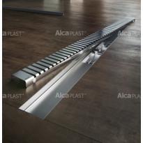 Lineaarinen lattiakaivo Line kahdella kaadolla, 1000 mm, Alcaplast