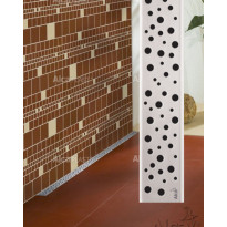 Lineaarinen lattiakaivo Buble yhdellä kaadolla, 1000 mm, Alcaplast