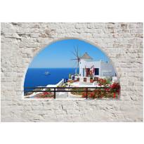 Kuvatapetti Artgeist Summer in Santorini, eri kokoja