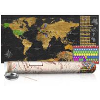 Raaputuskartta Artgeist Golden Map, 100x50cm