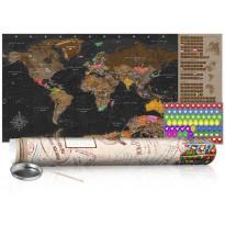 Raaputuskartta Artgeist Brown Map, 100x50cm