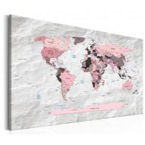 Taulu Artgeist World Map: Pink Continents, eri kokoja