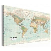 Taulu Artgeist World Map: Beautiful World, eri kokoja