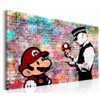 Taulu Artgeist Banksy: Colourful Brick, eri kokoja