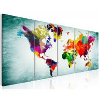 Taulu Artgeist World Map: Green Vignette, eri kokoja