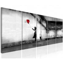 Taulu Artgeist Banksy: Runaway Balloon, eri kokoja