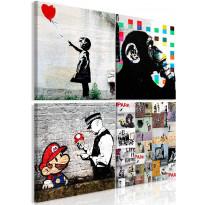 Taulu Artgeist Banksy Collage, eri kokoja