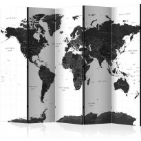 Sermi Artgeist Black and White Map II, 225x172cm