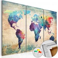 Korkkitaulu Artgeist Rainbow Map, eri kokoja
