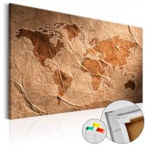 Korkkitaulu Artgeist Paper Map, eri kokoja