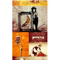 Tapetti Artgeist Collage - Banksy, 50x1000cm