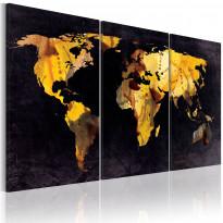 Taulu Artgeist Maailman kartta - juoksuhiekka, eri kokoja
