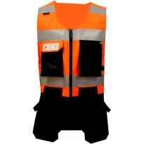 Riipputaskuliivi Atex Hi-Vis AFAS 5839, oranssi/musta