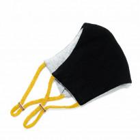 Kangasmaski Leon, musta/keltainen + filtterit 3kpl
