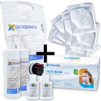 Perhepaketti Protecthis XL, maskit 50+10kpl ja käsidesi 2x400+2x60ml + täyttö 1.5l