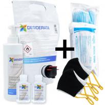 Perhepaketti Protecthis L, maskit 10+2kpl ja käsidesi 400+2x60ml + täyttö 1.5l