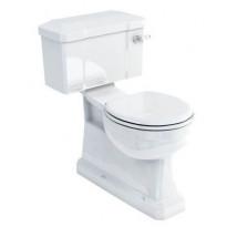 WC-istuin Burlington Close-coupled, S-lukko, kaksoishuuhtelu, ilman kantta